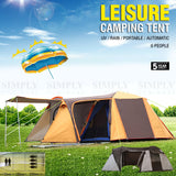 Camping Tent 6 Person Instant Pop Up Family Light Portable Waterproof Automatic