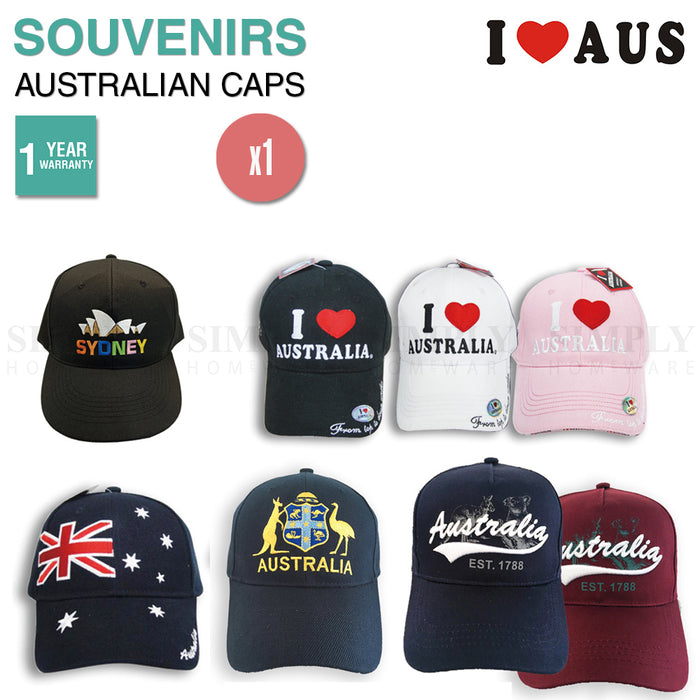 Australian Souvenirs Cap Hat Baseball Cotton Mens Sydney Flag Bulk Aussie Gift - Simply Homeware