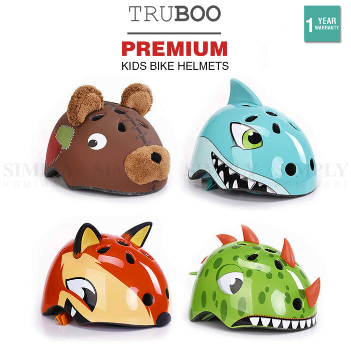 Truboo Kids Bike Helmets Bicycle Fox BMX Skate Scooter Dirt Cycling Motorbike - Simply Homeware