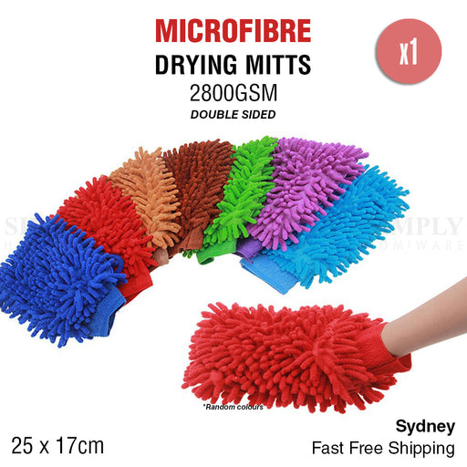2800GSM Microfibre Car Wash Mitt Drying Glove Cleaning Microfiber Super Absorb
