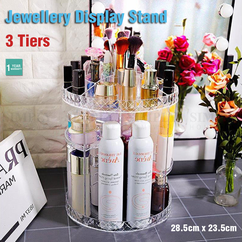 Jewellery Display Stand Acrylic Earring Necklace Ring Storage Holder Rack Clear - Simply Homeware