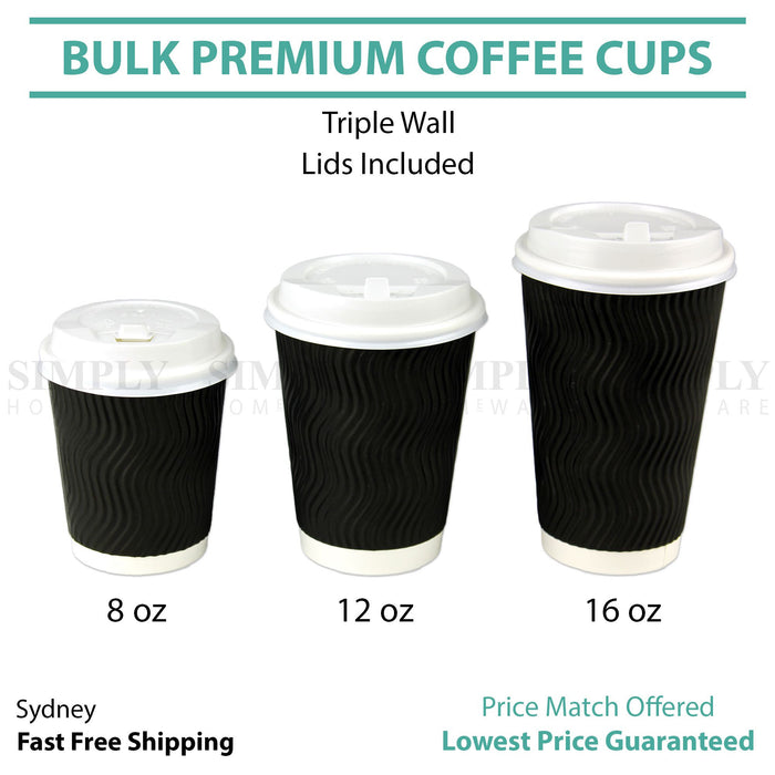 Work 100 x 12oz Single Wall White Paper Cups for Hot Drinks Premium Disposable Coffee//Tea Paper Cups Perfect for Your Home Parties or Outdoors. White, 12OZ Caf/é