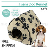 Pet Dog House Kennel Soft Igloo Cat Folding Bed Warm Cushion , Pet Kennel - PJ SAS, Simply Homeware - 1