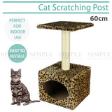 Cat Tree Scratching Post Pole Gym Poles Scratcher House Furniture Multi 60cm