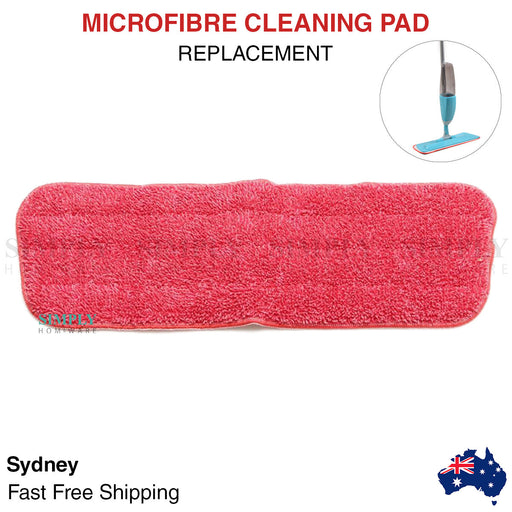 Spray Mop Pads Replacement Refill Microfibre Cloth Floor Microfiber Cleaning Red - Simply Homeware