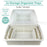 2x Storage Tray Basket Plastic Organiser Trays Tub Container Organizer White