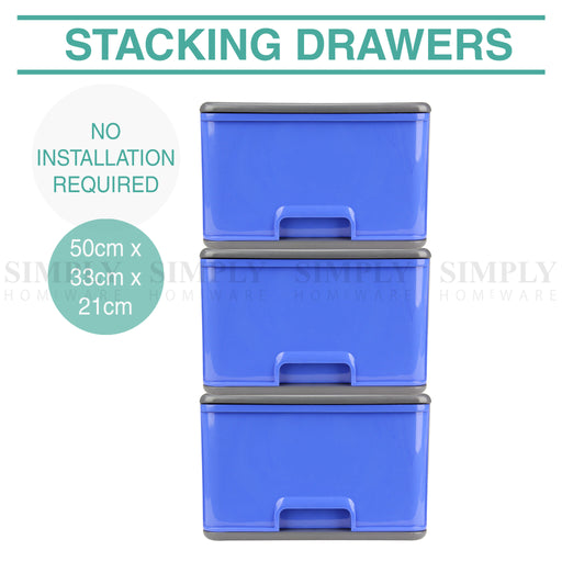 Stacking Childrens Kids Chest of Drawers Drawer Bedroom Furniture Toys Clothing