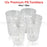 12x Plastic Tumblers Cups Glasses Tumbler Drinking Water Cold Clear Large Bulk