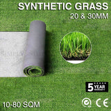 10-80 SQM Synthetic Grass Fake Turf Artificial Mat Plant Lawn Flooring 20 30mm