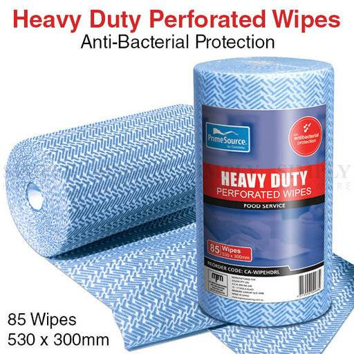 Bulk Heavy Duty Perforated Wipes Antibacterial Resturant Castaway 530x300mm - Simply Homeware