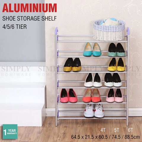 Shoe Rack Shelf Storage Stand Small Large 4 5 6 Tier Aluminium Organiser Metal