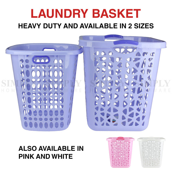 Laundry Basket Bin Plastic Baskets Washing Hamper Bag