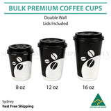 Disposable Coffee Cups 8oz 12oz 16oz Takeaway Paper Double Wall Take Away Bulkwe