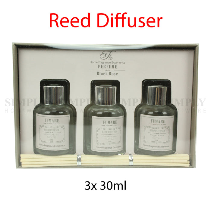 Reed Diffuser Fragrance Sticks Oil Refill Bottle Kit 3pcs 30ml , Candles - Bigspud, Simply Homeware - 1