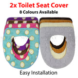 Toilet Seat Cover Soft Bathroom Warmer Bath Covers Seat Lid 2pcs , Bathmats, Rugs & Toilet Covers - Simply Homeware, Simply Homeware - 1