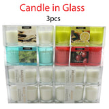 Scented Candle Candles Glass Jar 100% Soy Wax 3pcs , Candles - Bigspud, Simply Homeware - 1