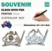 Australian Souvenirs Map Clock Pen Movement Beside Silver Aussie Gift Bulk - Simply Homeware