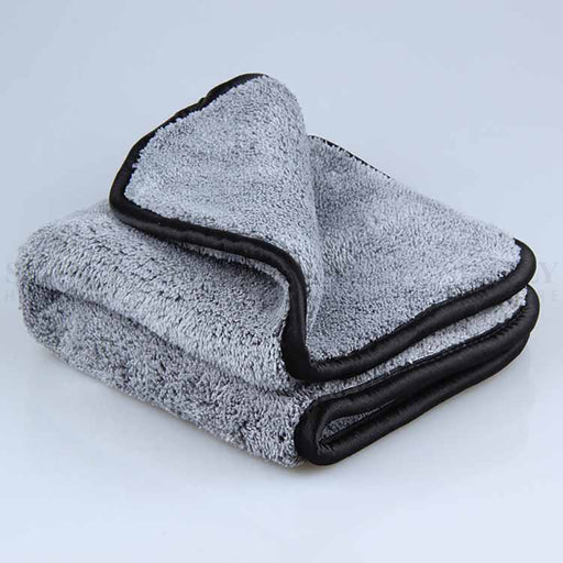 2x 1000GSM Microfibre Car Drying Towel Cleaning Cloth Microfiber Glass 62x30cm