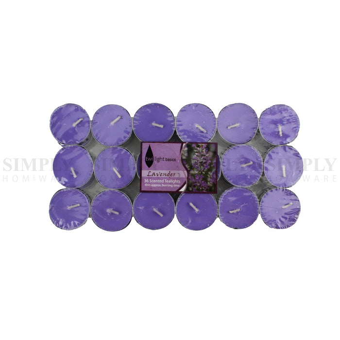 Scented Tea Light Candles Bulk Tealight 4 Hours Burn Scent - 36pcs Lavender, Candles - Simply Homeware, Simply Homeware - 2