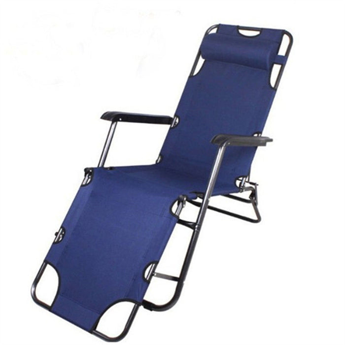 Reclining Folding Deck Chair Lounge Beach Camping Sun Portable Outdoor Fishing