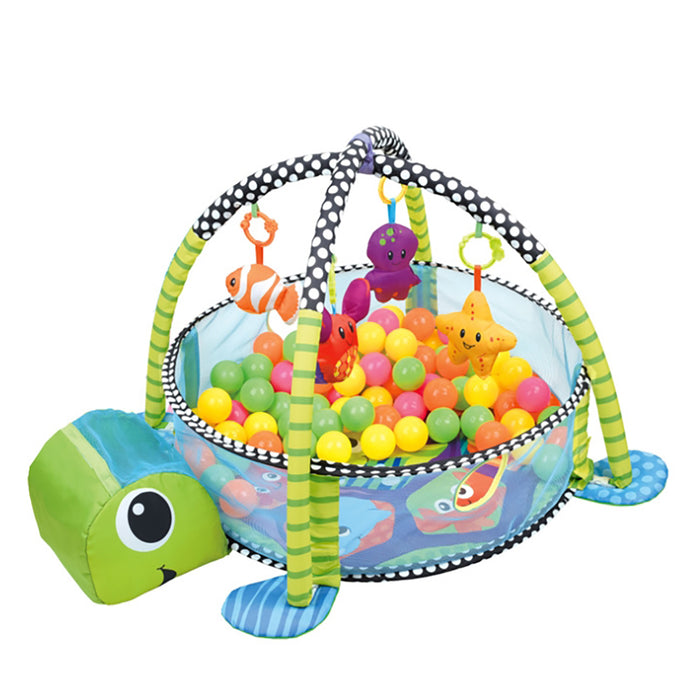 Truboo 3 in 1 Baby Activity Gym Infant Play Floor Mat Ball Pit Toys Fitness