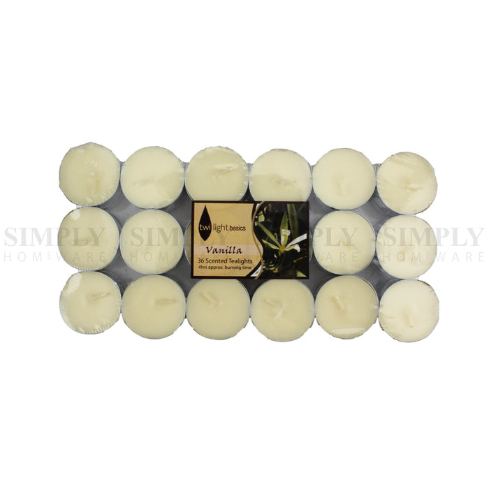 Scented Tea Light Candles Bulk Tealight 4 Hours Burn Scent - 36pcs Vanilla, Candles - Simply Homeware, Simply Homeware - 5