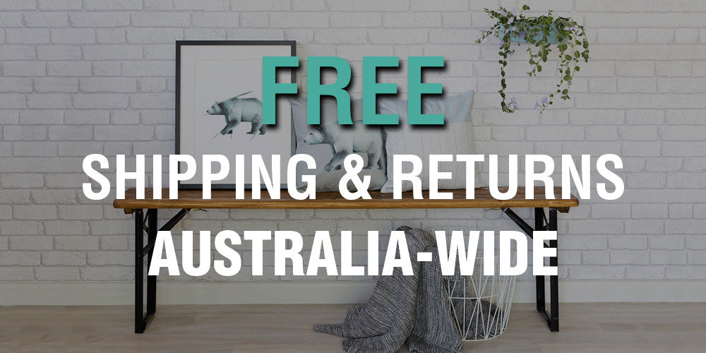 free shipping and returns australia wide simply homeware