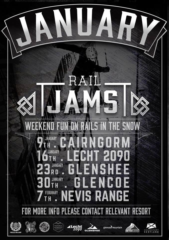 January Snowboard Rail Jams - Scotland, UK