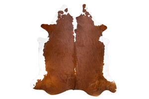 Chocolate Cream Natural Cowhide Floor Covering