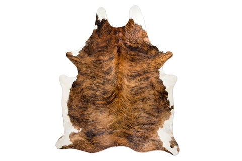Deep Woods with Snow Natural Cowhide Floor Covering