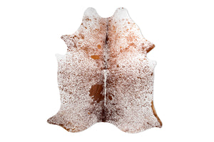 Brown Sandy Beach Natural Cowhide Floor Covering