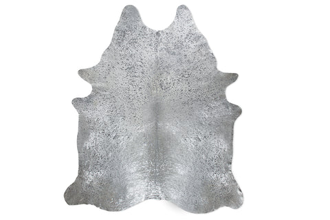 Silver Palette Embellished Cowhide Floor Covering