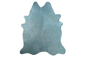 Summer Sky Embellished Cowhide Floor Covering