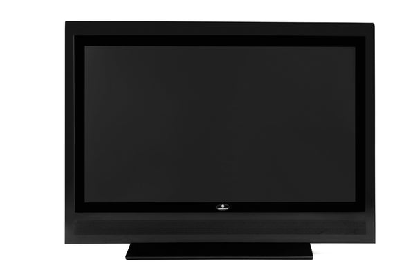 Turbo Elite 32 inch LCD TV prop with rounded top in high gloss black