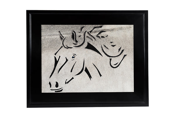 Wild Horse Hair on Hide Artwork