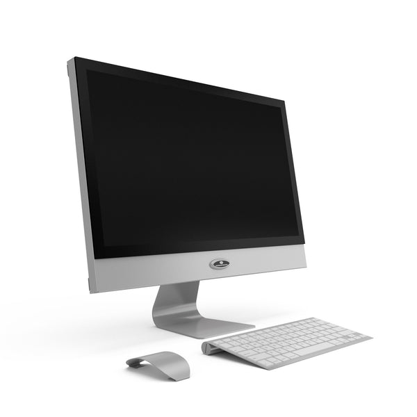 21 inch platinum computer prop with monitor keyboard and mouse