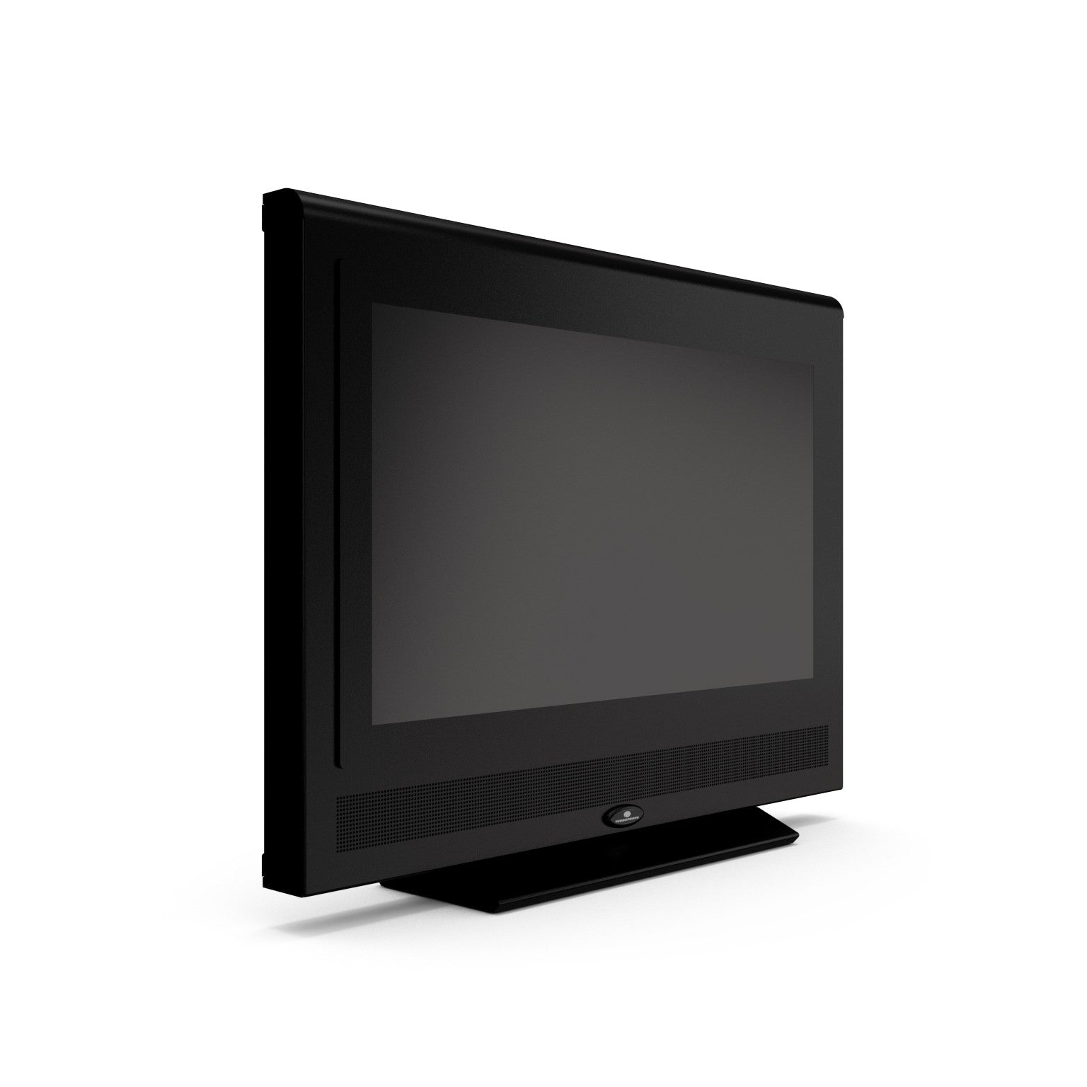 Turbo Elite 26 inch LCD TV prop with rounded top in high gloss black