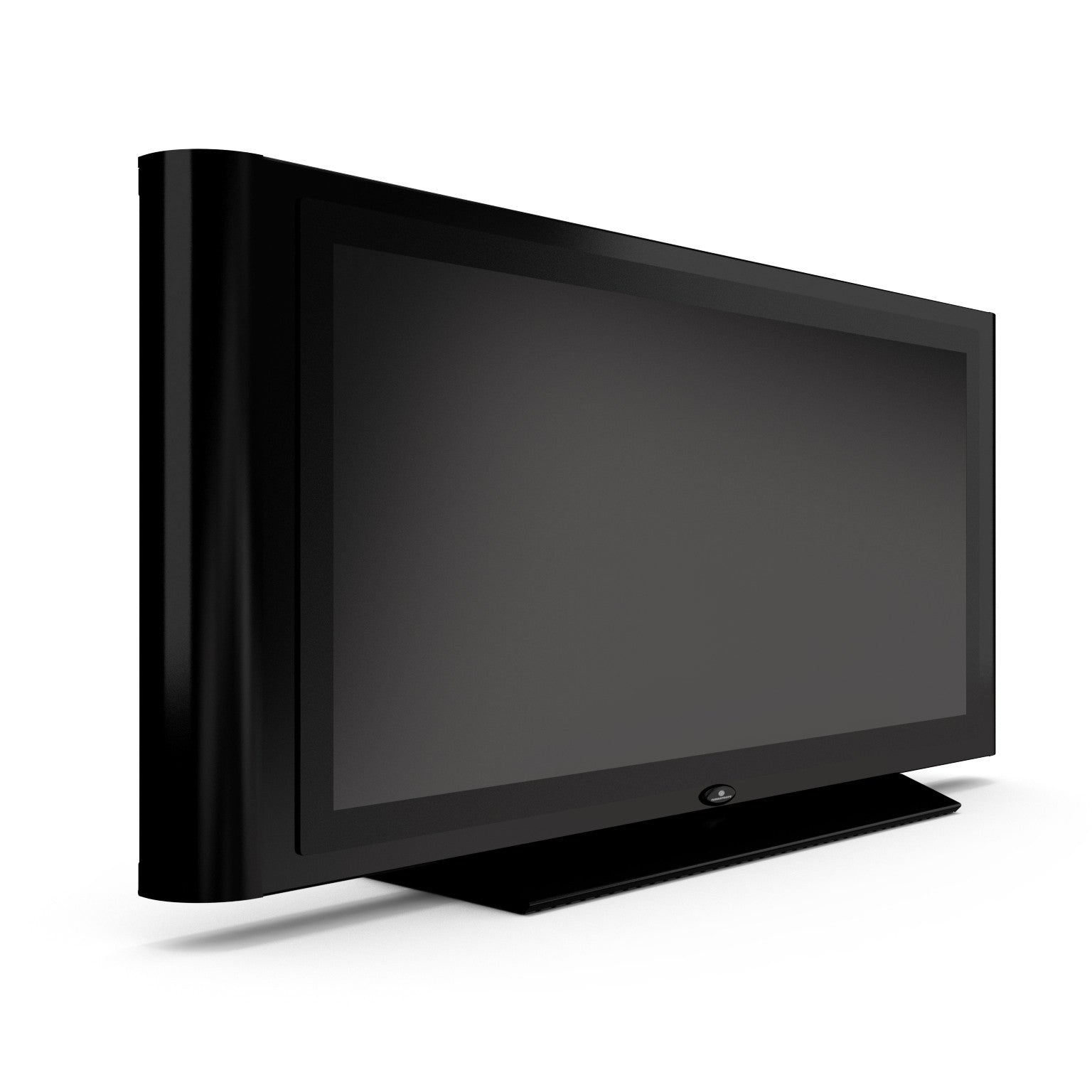Turbo Elite 45 inch LCD TV prop with rounded sides in high gloss black