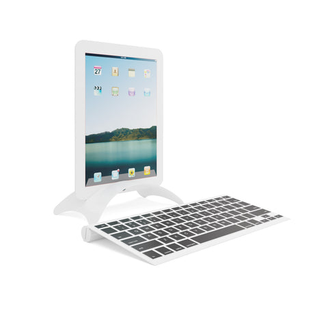 White tablet with white stand and keyboard 3 sets per box