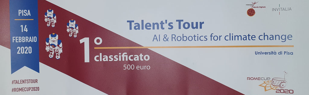 "We won the ""Talent's Tour"" in Pisa themed ""AI & Robotics for climate change"""