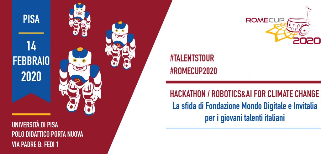 "Selected for the hackaton ""AI & ROBOTICS FOR CLIMATE CHANGE"" in Pisa, February 14th!"
