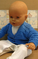 Load image into Gallery viewer, Handmade-Baby-Jacket-in-Blue-0-6-Months-Nchanted-Gifts