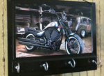 Load image into Gallery viewer, Wall-Key-Rack-Motor-Bike-Print-Nchanted-Gifts