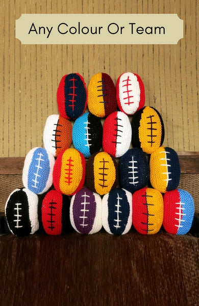 Knitted-AFL-Football-Baby-Toy-Nchanted-Gifts