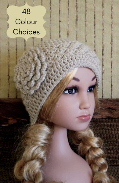 Children's-Crochet-Flower-Beanie-Nchanted-Gifts