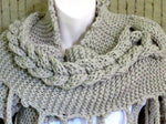 Load image into Gallery viewer, Cable-Knitted-Boho-Scarf-Wrap-Nchanted-Gifts