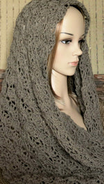 Load image into Gallery viewer, Women's-Crochet-1-Colour-Infinity-Scarf-Nchanted-Gifts