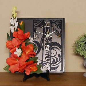 Wall-Clock-With-Gladiola-Flowers-Nchanted-Gifts
