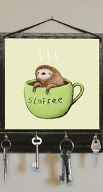 Load image into Gallery viewer, Sloth Wall Key Holder