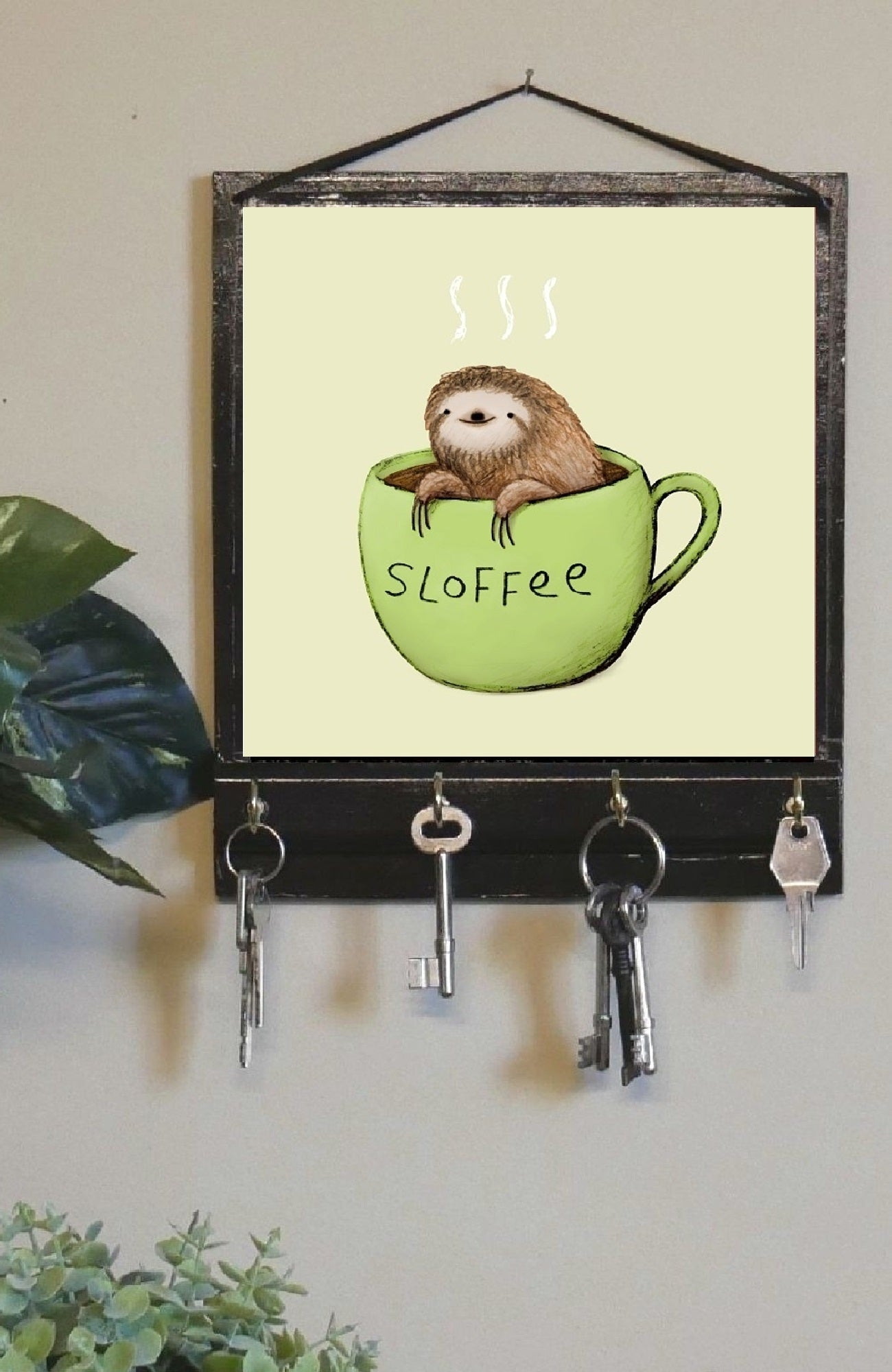 Sloth Wall Key Holder